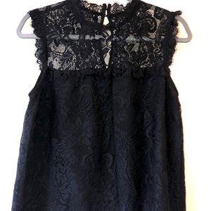 Forever 21  Black Lace Sleeveless Blouse. Size S